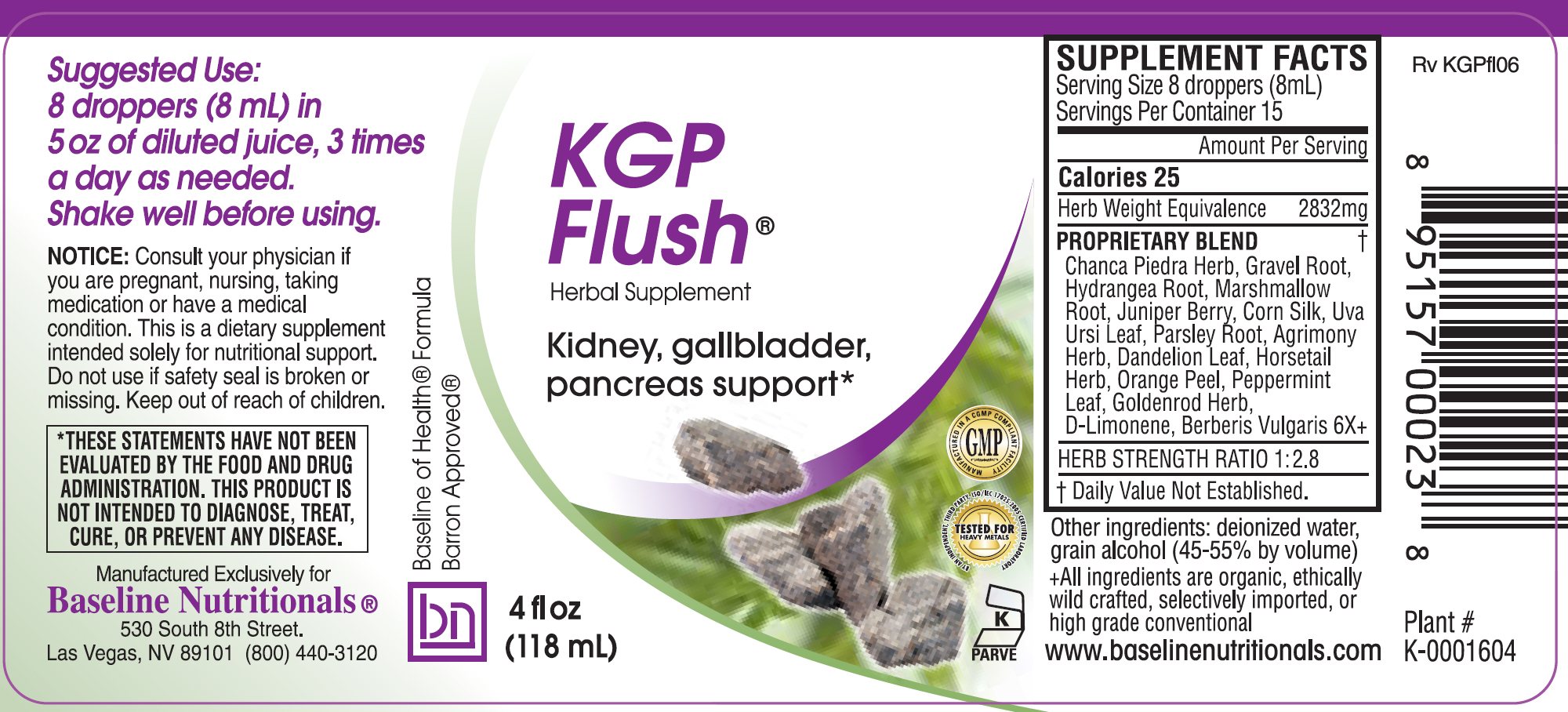 KGP-Flush label